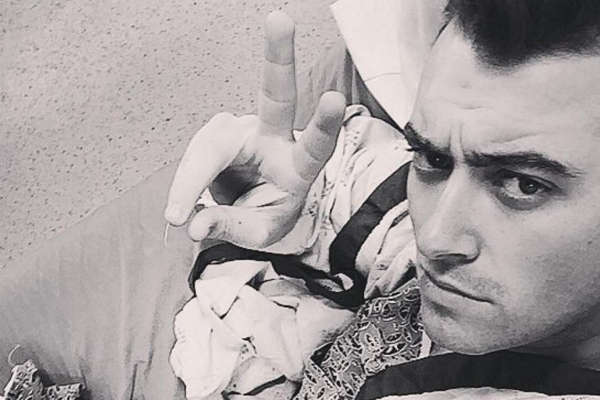 Sam Smith in a post-op pic posted to his Instagram account. -- PHOTO: INSTAGRAM