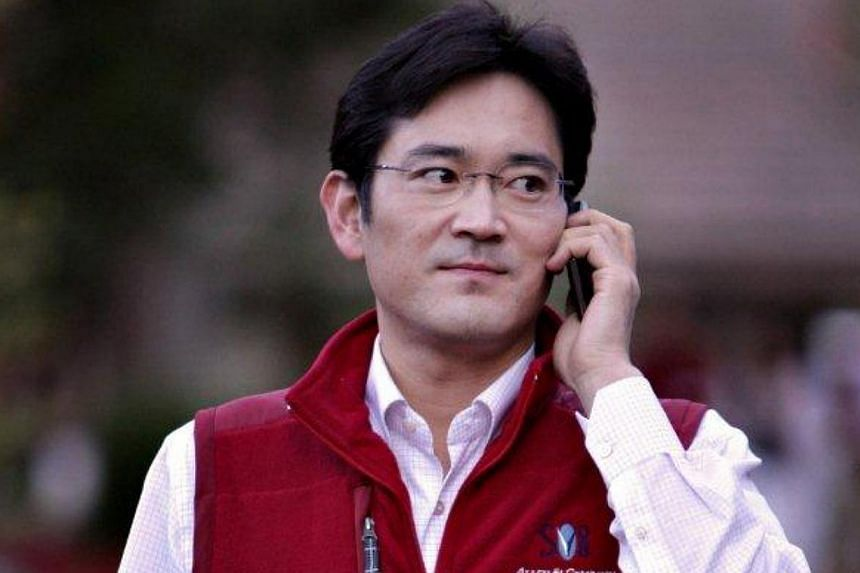 Samsung Group heir apparent Jay Y. Lee will take over from his father Lee Kun-hee as head of two key foundations, the conglomerate said on Friday, suggesting that a transfer of leadership is underway at South Korea's largest conglomerate. -- PHOTO: B