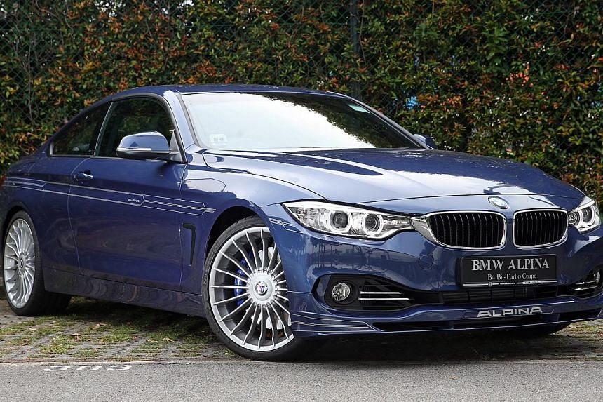 The Alpina B4 Coupe drives with plenty of verve but also behaves with much decorum. -- ST PHOTO: SEAH KWANG PENG
