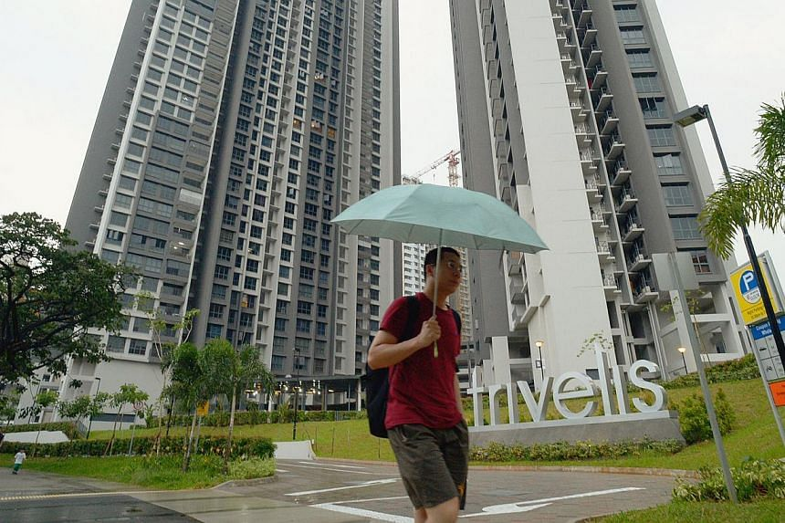 EL Development said it is considering extending the one-year warranty on all furnishings and fittings for owners of the Trivelis project in Clementi and offering free safety films for glass shower panels. ST -- PHOTO: DESMOND WEE