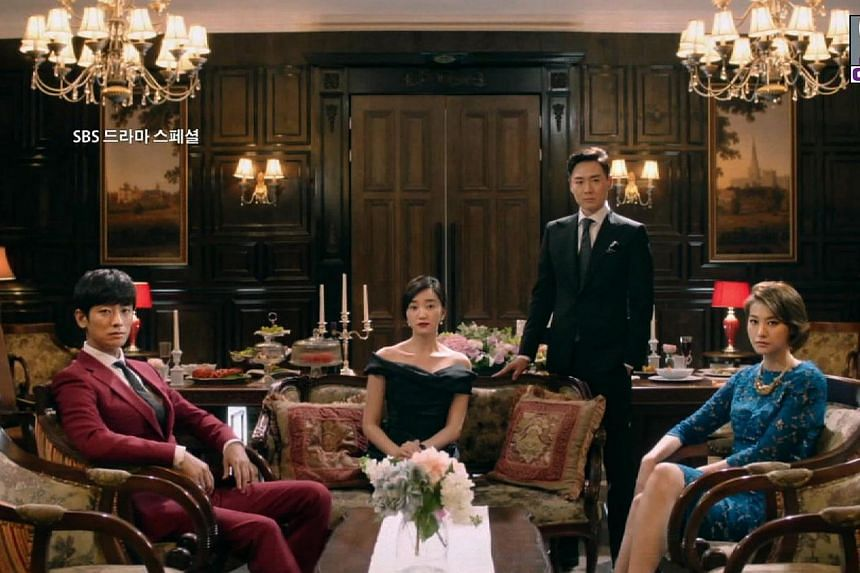 The cast of Korean drama Mask, (from left) Joo Ji Hoon, Soo Ae, Yeon Jeong Hun and Yu In Young. Mask will be the first prime-time drama to be aired on cable TV within 24 hours of its first telecast in South Korea, under a new broadcast arrangement by