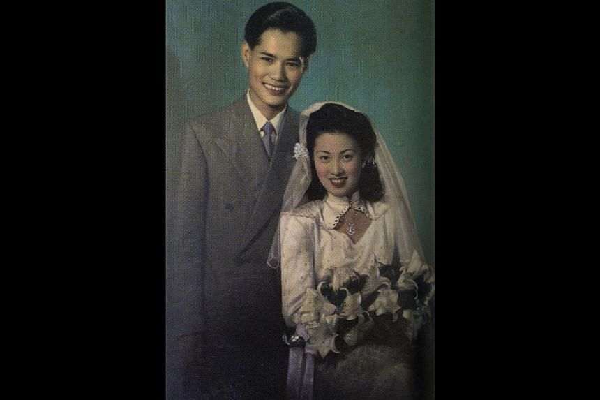 Mr William Chen and Mrs Betty Chen on their wedding day in 1948.