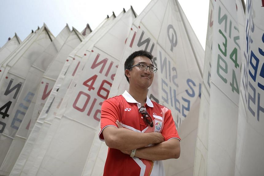 National sailor Colin Cheng, who will be making his SEA Games debut despite medals from three Asian Games, has been training in Sydney's harbour.