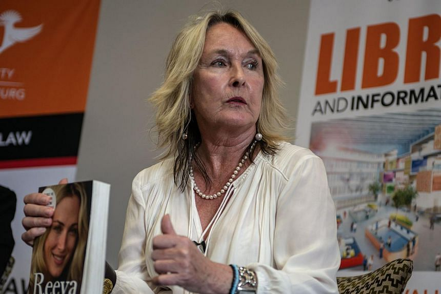 June Steenkamp, the mother of Oscar Pistorius' slain girlfriend Reeva, told a newspaper on Sunday, May 17, 2015, that it would be too early to release the fallen Paralympian from prison as early as August for good conduct. -- PHOTO: AFP
