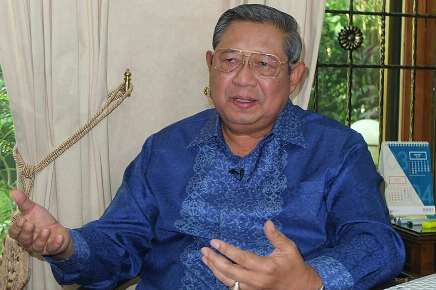Indonesia's former president Susilo Bambang Yudhoyono on Sunday urged nations to seek a solution instead of assigning blame over the migrant crisis engulfing Southeast Asia, warning that hundreds of lives are at stake. -- PHOTO: ST FILE