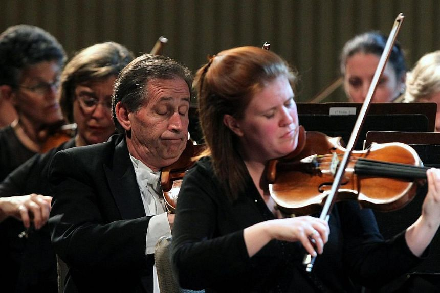 The Minnesota Orchestra, directed by Finnish conductor Osmo Vanska, performs in concert at the Cuban National Theatre in Havana, Cuba, May 15, 2015. -- PHOTO: EPA
