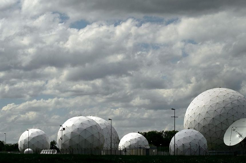 Radar domes are seen on the premises of a communications intercept station of German intelligence agency BND in Bad Aibling, Germany, on May 7, 2015. BND, Germany's foreign intelligence agency, helped the CIA track down Osama bin Laden in Pakist