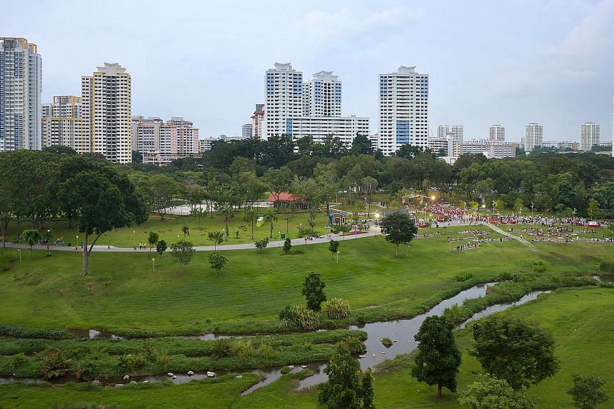 A series of walks that will take participants around 14 ABC Waters locations throughout Singapore over the next two years was launched on May 17, 2015, with the first walk to take place at Bishan-Ang Mo Kio Park (above) on June 28. -- PHOTO: ST FILE&