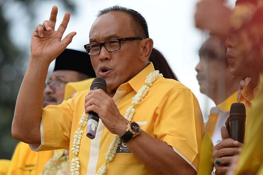 An Indonesian court on Monday ruled that tycoon Aburizal Bakrie was the leader of the country's largest opposition Golkar party, dashing rivals' hopes the party would defect to the ruling coalition under a different leader. -- PHOTO: ST FILE