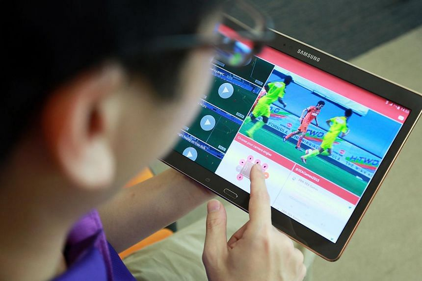 Sports fans will be able tocatch the action at the Sea Games on a mobile phone/tablet app. The app will be available for free public download from May 25, 2015. -- ST PHOTO: DANIEL NEO