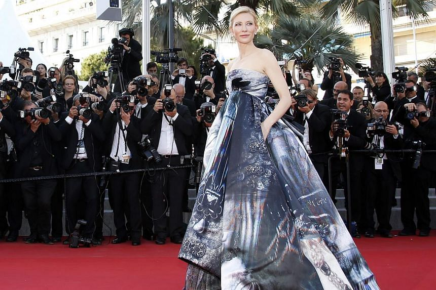 Australian actress Cate Blanchett arrives for the screening of Carol during the 68th annual Cannes Film Festival in France on May 17, 2015. -- PHOTO: EPA