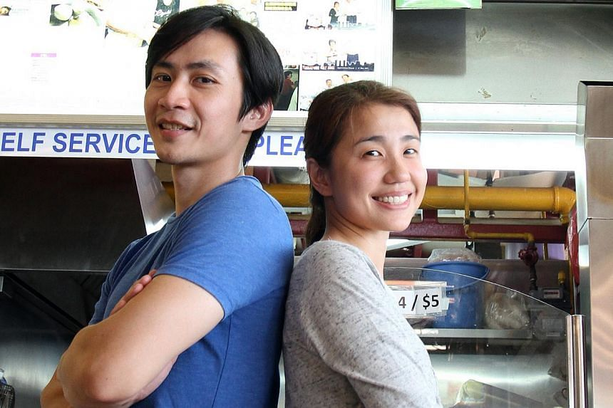 Owners Daniel Lee and Joanne Ng (both above) of the Ru Ji Kitchen chain. There are three outlets which normally serve about 300 bowls of noodles a day each. -- PHOTO: COURTESY OF FOOD NETWORK