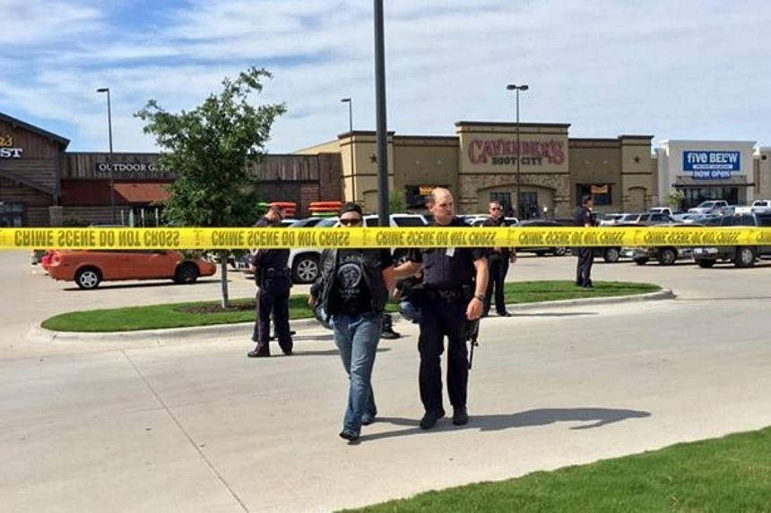 The Waco Police Department posted a warning for people to avoid the Central Texas Market Place area after a shootout between rival gangs in a restaurant parking lot. -- PHOTO: WACO POLICE DEPARTMENT/FACEBOOK