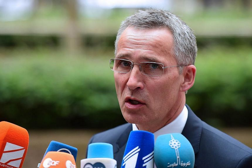 Nato head Jens Stoltenberg warned on Monday, May 18, 2015, that fighters from Islamic extremist groups may hide among the flood of migrants seeking refuge in Europe, increasing the need for an effective response. -- PHOTO: AFP