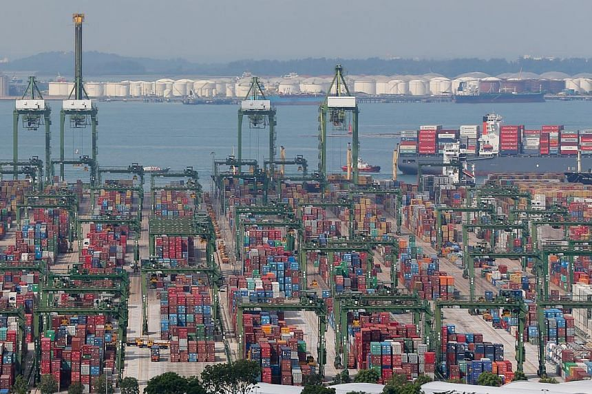 Defying analysts' expectations of a fall, non-oil domestic exports (NODX) eked out a 2.2 per cent year-on-year rise in April as growth in non-electronic shipments outweighed the decline in electronic ones. -- ST PHOTO: ONG WEE JIN