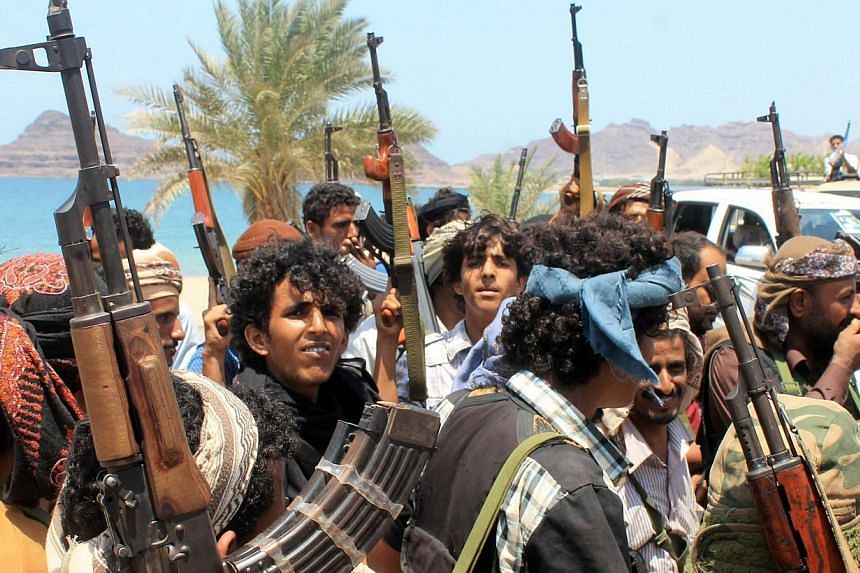 Supporters of Yemen's Southern Separatist Movement gather in the port city of Aden, as battles against Shiite Huthi rebels continue, on Sunday. A UN envoy called for an extension of a humanitarian ceasefire in Yemen as the Huthi Shiite rebels boycott