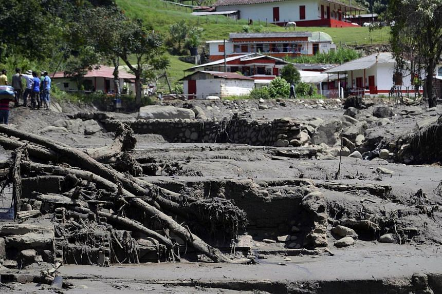 The view after a landslide in Salgar municipality, Antioquia department, Colombia on May 18, 2015. -- PHOTO: AFP
