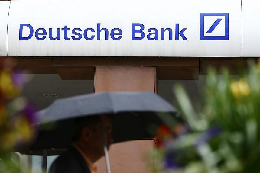 Deutsche Bank has put both its co-heads of corporate finance in Asia on leave, people familiar with the matter said. -- PHOTO: REUTERS