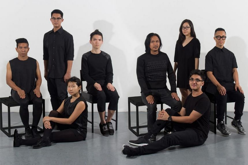 The performing and creative team of Decimal Points [Infinity]. -- PHOTO: CAKE THEATRICAL PRODUCTIONS