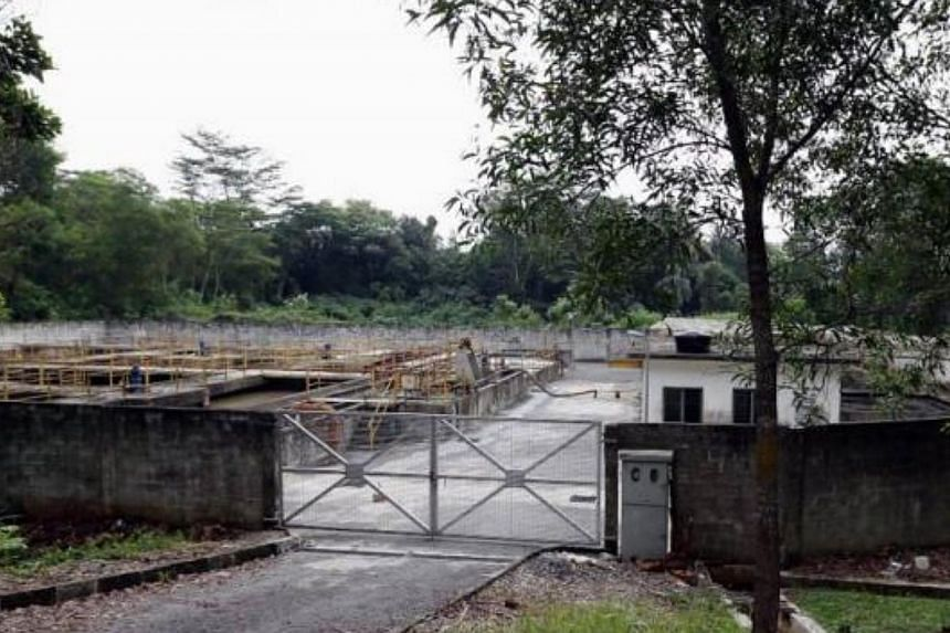 The sewage plant in Kempas Permai, Johor Baru, where the dismembered body of a baby was found. -- PHOTO: THE STAR/ASIA NEWS NETWORK