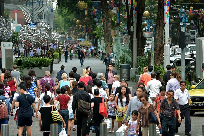 Orchard Road remains the most popular shopping location. -- PHOTO: ST FILE