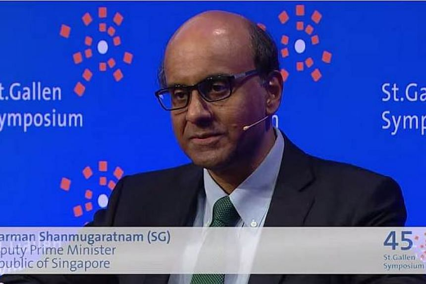 Singapore's economic success, social policies and safety nets were some of the main issues discussed by Deputy Prime Minister and Finance Minister Tharman Shanmugaratnam in an interview by BBC Hardtalk presenter Stephen Sackur at the St Gallen Sympos