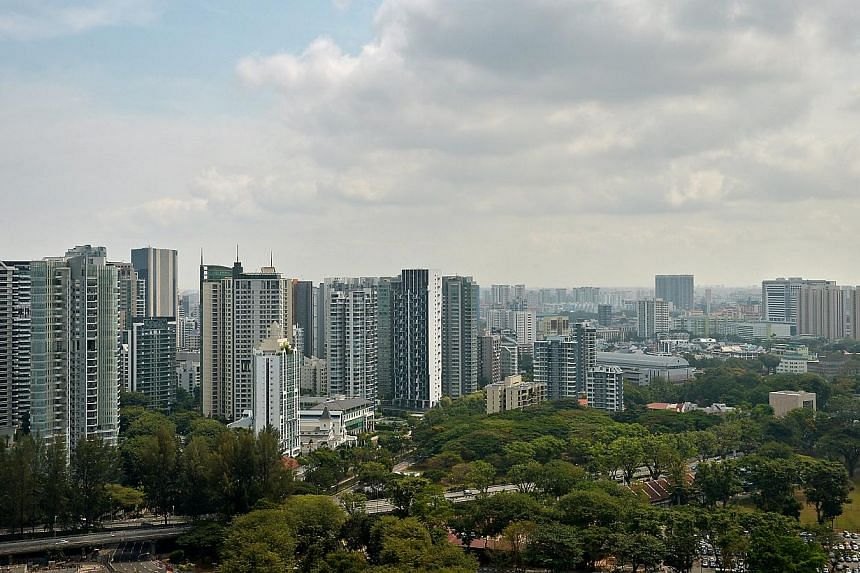 Private property, developments and commercial buildings as seen from Scotts Road. Home buyers will soon have details about private property sales and prices at their fingertips under reforms aimed at improving safeguards and market transparency. -- P