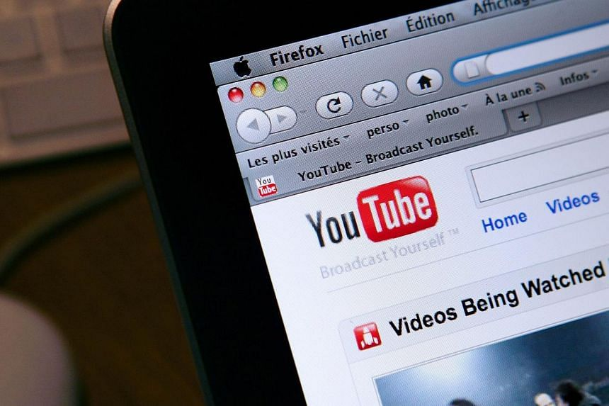 The internet homepage of the YouTube website. -- PHOTO: AFP