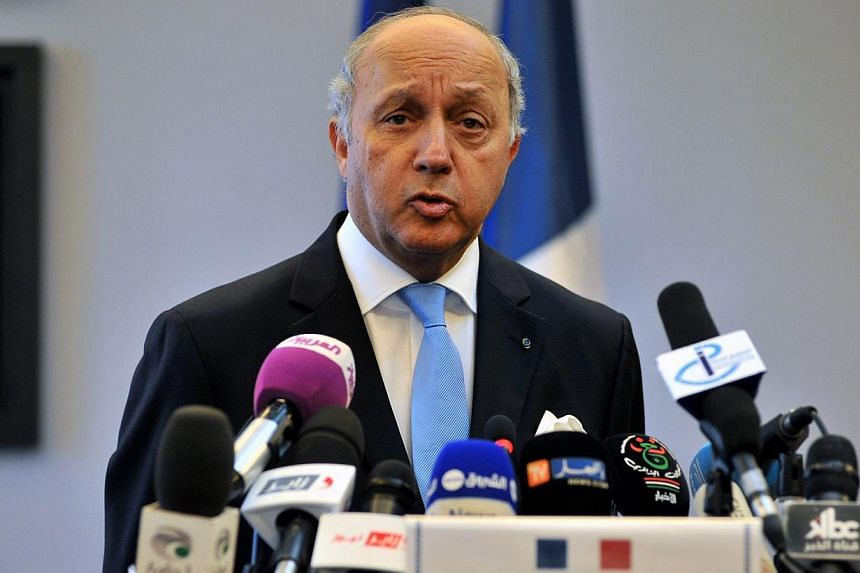 French Foreign Minister Laurent Fabius announced on Wednesday, May 20, 2015, that France will host a high-level meeting on the crisis in Iraq and Syria on June 2. -- PHOTO: EPA
