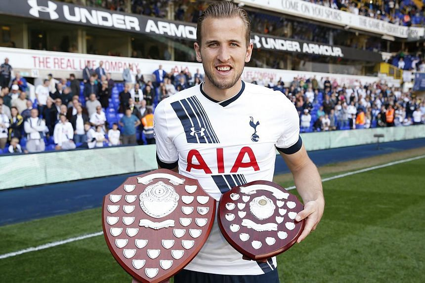 Kane, 21, was elected the Professional Footballers' Association (PFA) Young Player of the Year after scoring 20 Premier League goals and made a goal-scoring England senior debut against Lithuania in March. -- PHOTO: REUTERS