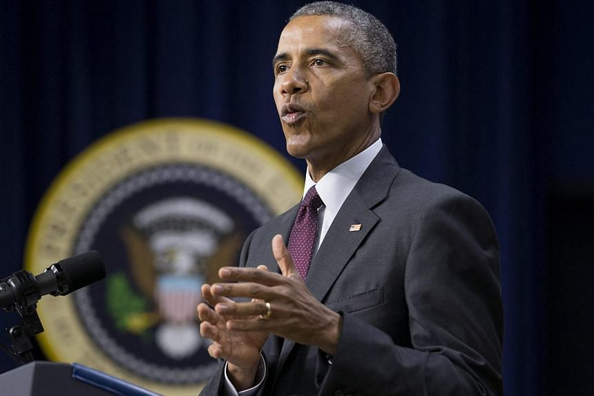 President Barack Obama will on Wednesday warn that a one-foot rise in sea levels could cost the United States as much as US$200 (S$267) billion, in a speech warning of the security risks of climate change. -- PHOTO: EPA