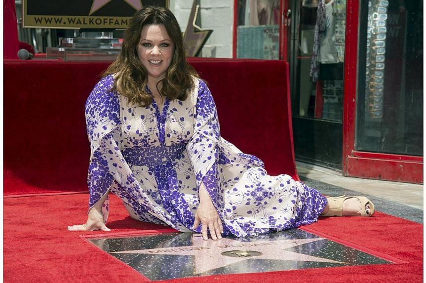 Actress Melissa McCarthy receives a star on the Hollywood Walk of Fame in Los Angeles, California May 19, 2015. -- PHOTO: REUTERS