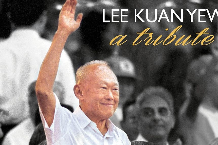 Lee Kuan Yew - A Tribute, a book of essays, photographs and tributes of the late Mr Lee Kuan Yew published in The Straits Times has been launched. -- PHOTO: ST PRESS