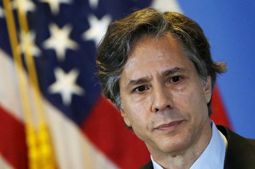 US Deputy Secretary of State Antony Blinken during a news conference in Mexico City on April 30, 2015. Mr Blinken said he would raise the Myanmar government's discriminatory treatment of its Rohingya minority in the western state of Rakhine, which is