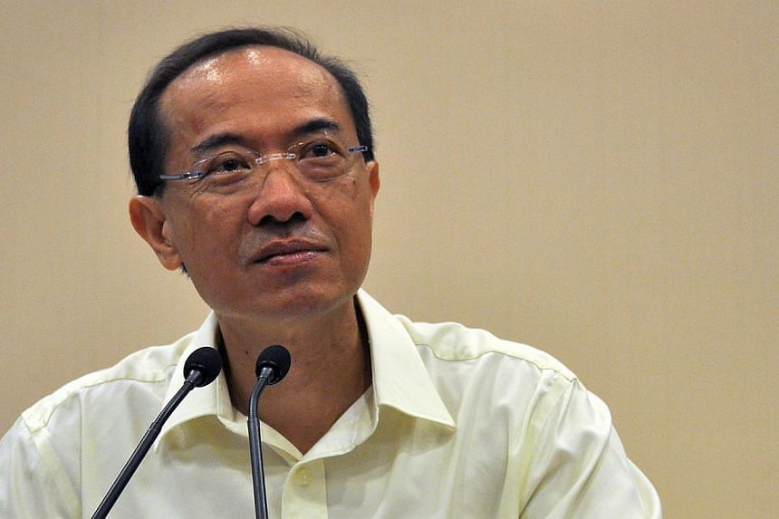 Mr George Yeo holding a press conference at the Ministry of Foreign Affairs on May 10, 2011, three days after his team lost the electoral battle in Aljunied GRC to the Workers' Party in the 2011 General Election. -- PHOTO: ST FILE