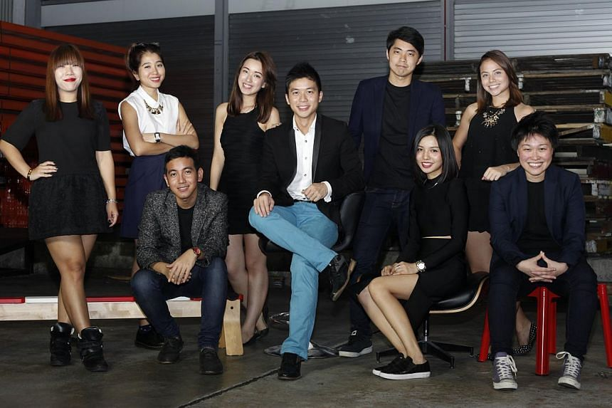 The Gushcloud team with co-founders Vincent Ha (centre) and Althea Lim (seated, extreme right). -- PHOTO: GUSHCLOUD