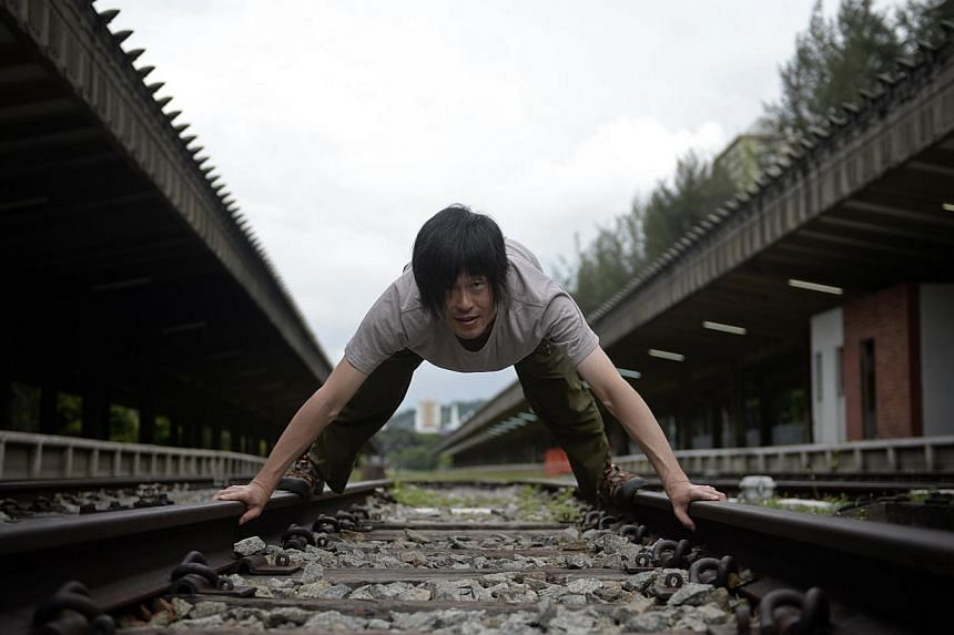 Japanese artist Zan Yamashita will present a dance on the train tracks during the Singapore International Festival of Arts. -- ST PHOTOS: MARK CHEONG