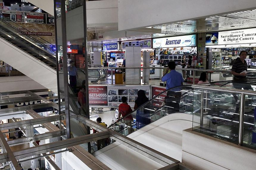 On the whole, the situation at the IT and electronics mall has improved. From January to last month, Case handled around 12 complaints against electronics retailers, down from an estimated 32 in the same period last year. -- ST FILE PHOTO