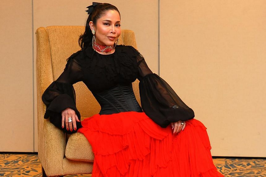 Singer Anita Sarawak in 2011. Anita, who was reportedly uncontactable since March, is well, according to her half-sister Noor Kumalasari Mohd Taib. -- PHOTO: ST FILE