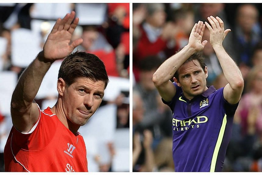 England manager Roy Hodgson has lauded departing Premier League stars Steven Gerrard (left) and Frank Lampard (right) and predicted that both players will enjoy successful coaching careers once they stop playing. -- PHOTOS: EPA, REUTERS