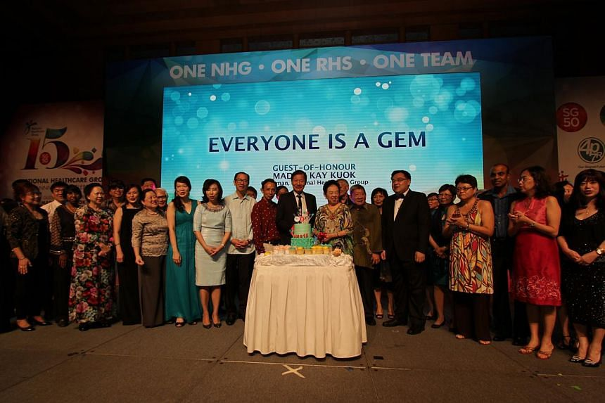 The National Healthcare Group (NHG) celebrated its 15th birthday with over 3,000 past and current staff members, community partners and more at Resorts World Sentosa on Saturday night. -- PHOTO: NHG