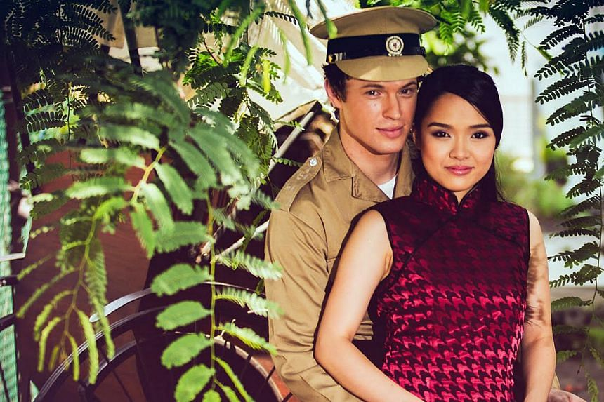 David Bianco and Marian Santiago in Singapura: The Musical. Its openingnight was marred by a never-ending slew of technical glitches.-- PHOTO: SINGAPURA: THE MUSICAL