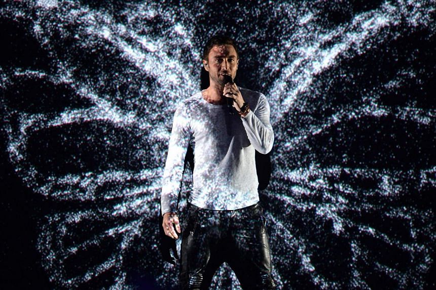 Sweden's Mans Zelmerlow performing during the Grand Final of the 60th annual Eurovision Song Contest (ESC) at the Wiener Stadthalle in Vienna, Austria, on May 23, 2015. -- PHOTO: EPA