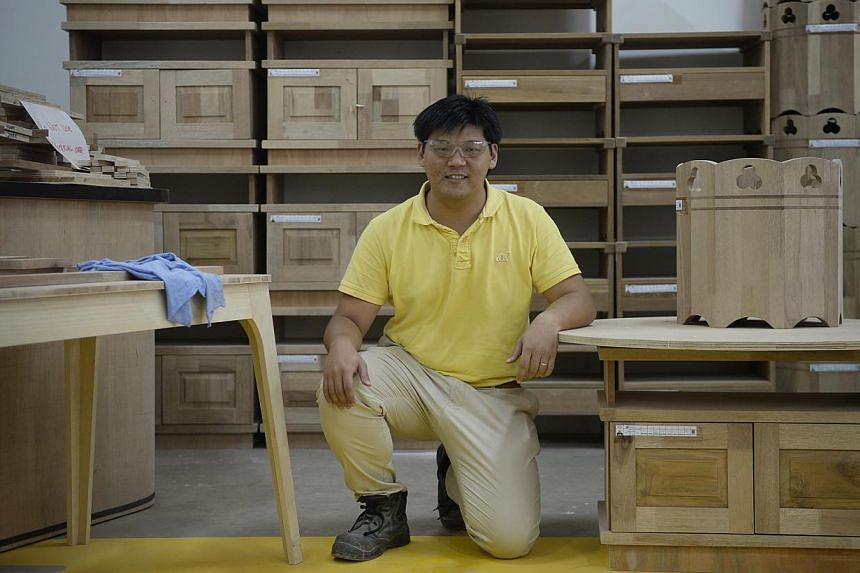 After completing his initial six months of training, Mr Pang Choon Kiat will join his father's carpentry business to finish up the rest of the apprenticeship programme. Printing veteran Lee Kok Kee may have taken a big pay cut, but the 53-year-old sa