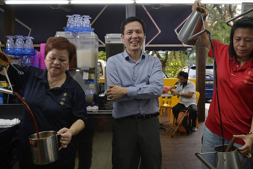 Mr Luke Lim at a coffee shop in Bukit Merah. His days spent as a coffeeshop boy have blessed him with both street smarts and an entrepreneurial spirit.