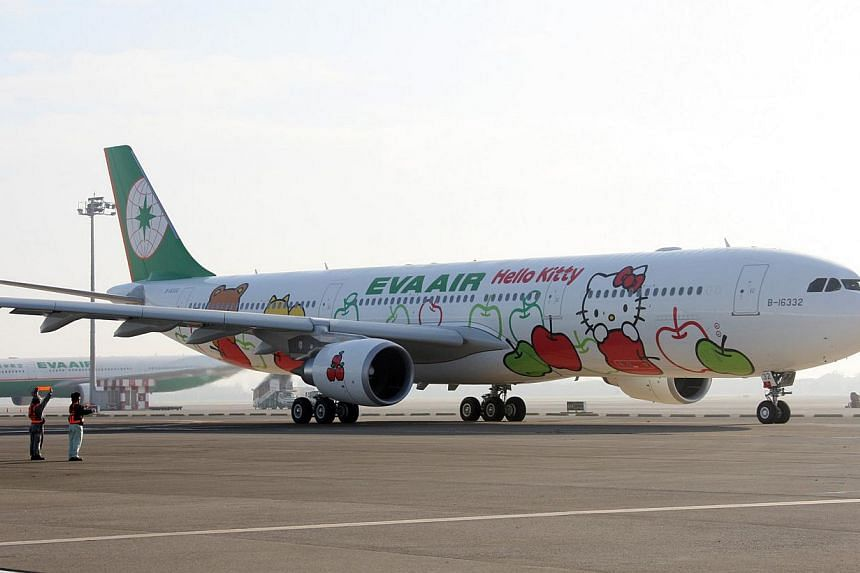 Taiwanese airline EVA Air is making the Hello Kitty jet (above) a permanent fixture for the Singapore-Taipei route from June 21. -- PHOTO: EVA AIR