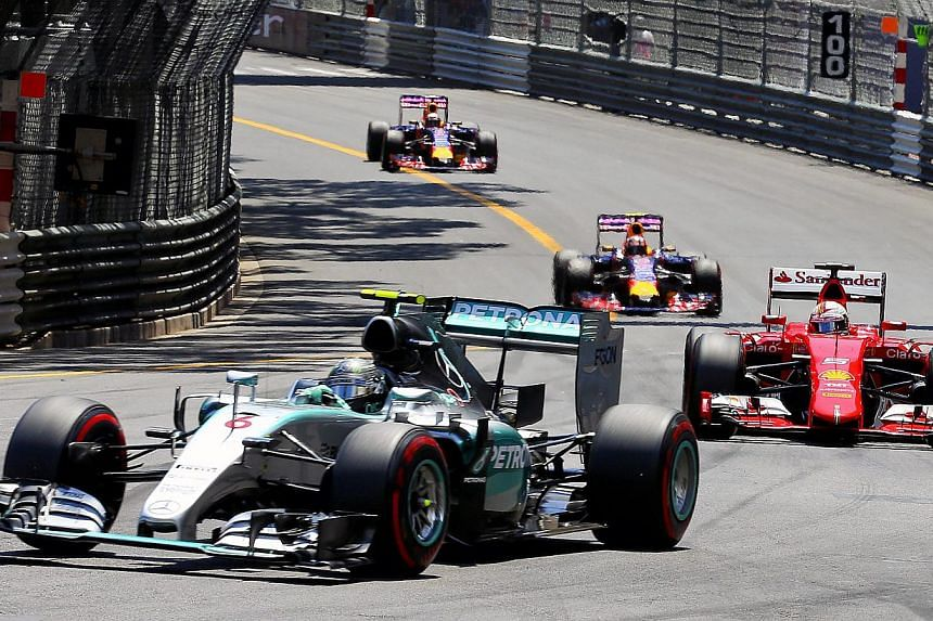 German Formula One driver Nico Rosberg of Mercedes AMG GP in action during the 2015 Formula One Grand Prix of Monaco at Monte Carlo circuit in Monaco, on May 24, 2015. -- PHOTO: EPA