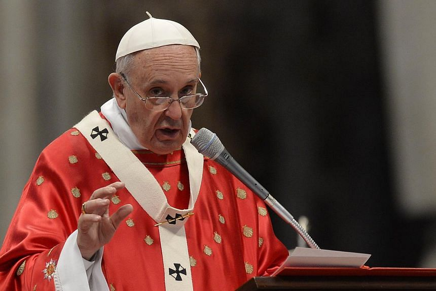 Pope Francis called on the international community on Sunday to help migrants crossing the Bay of Bengal and the Andaman Sea, thousands of whom have been stranded on boats with dwindling supplies. -- PHOTO: AFP