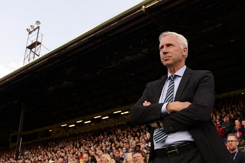 Alan Pardew guided Crystal Palace to a best-ever 10th-place finish in the Premier League thanks to a 1-0 victory over Swansea on the final day of the season on Sunday. -- PHOTO: REUTERS