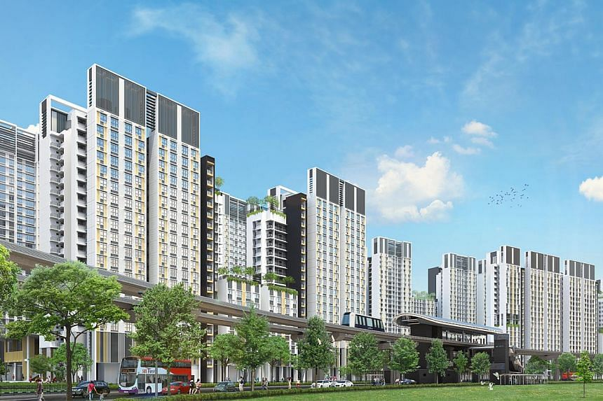 Artist's impression of Punggol Northshore, a waterfront housing district in Punggol. -- PHOTO: HDB